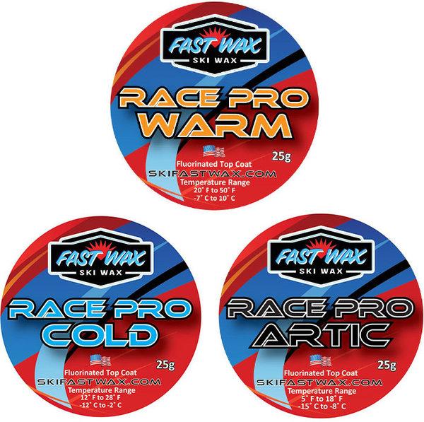 Fast Wax Race Pro High-Fluoro Tin 25g Topcoat