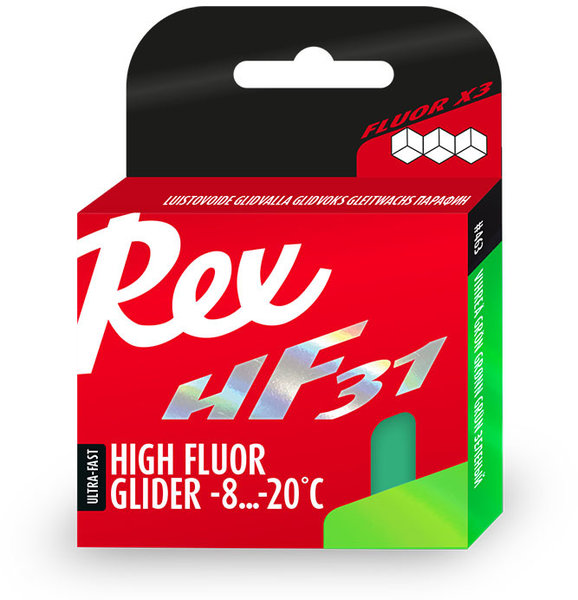 Rex HF 31 Green Glide Wax 40g (-4F to 18F)