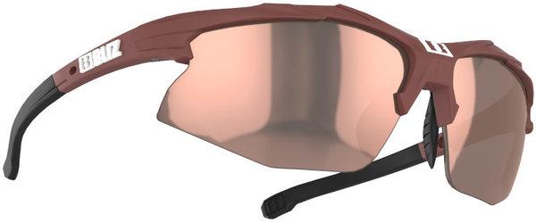 Bliz Optics Hybrid Small Face - Matte Wine Red, Brown With Rose Multi Lens
