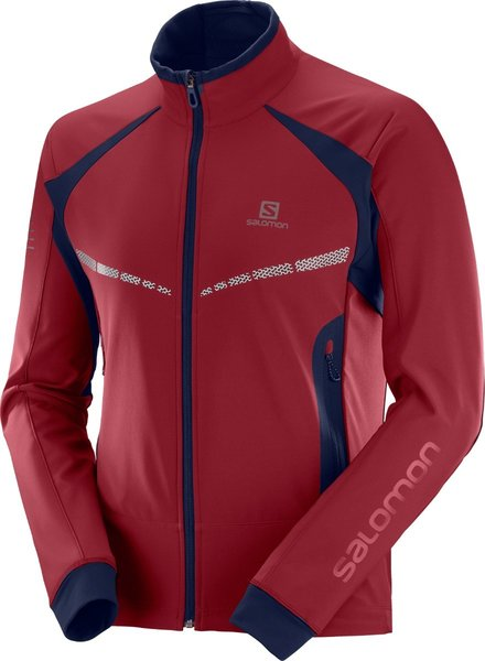 Salomon Men's RS Warm Softshell Jacket - Red/Night Sky