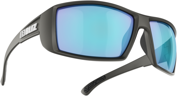 Bliz Optics Drift Sportsglasses- Matte Black/Brown w/Silver Mirror Lens-Polarized