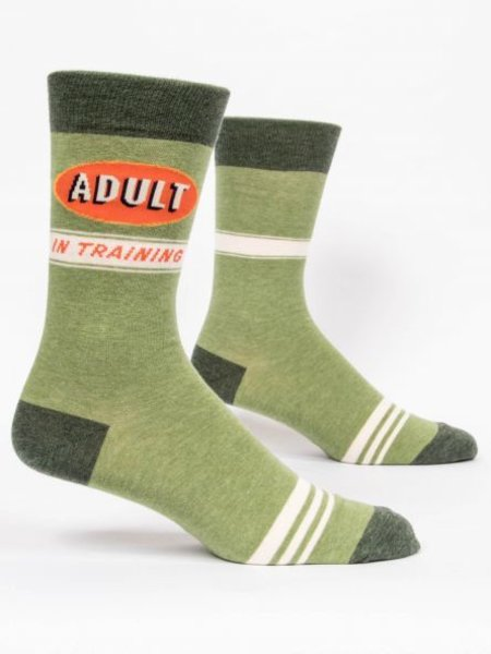 Blue Q Men's Crew Socks Color: Adult In Training