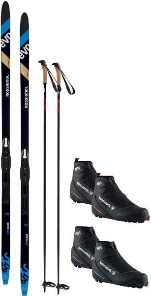 On or Off Trail Adventure Waxless w/ Rossignol XC60 Ski