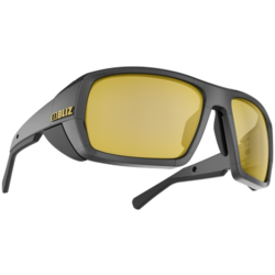 Bliz Optics Peak Matte Black Frame, Polarized Brown with Gold Mirror Mountaineering Lens