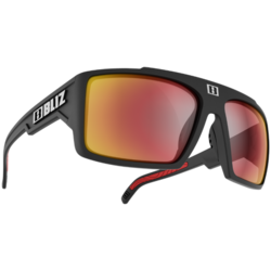 Bliz Optics Nitro, Black Frame, Smoke with Red Multi Lens