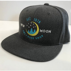 New Moon Flat Brim Hat, Dark Heather