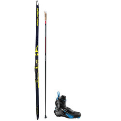 Fischer Speedmax Skate Racing Package With Salomon Boots And Swix Poles