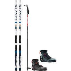 On or Off Trail Adventure Waxless with Rossignol XC65 EVO Trail Package