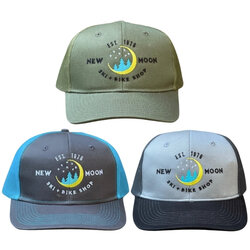 New Moon Embroidered Trucker Hat