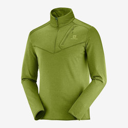 Salomon Men's Discovery Half Zip - Avocado Heather