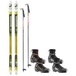 Rossignol Metal Edge Waxless Light Backcountry Package with BC70