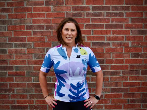 The Bike Lab OKC LTD Bike Lab Floral Women's Jersey by Alice Wolf