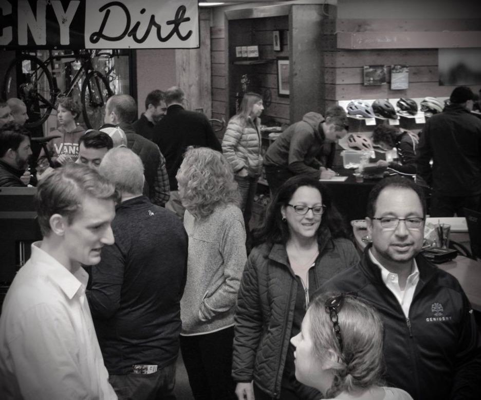 People gathering at Performance Night.
