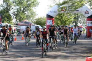 Tour de Cure starting line.