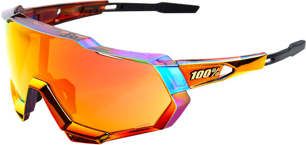 100% 100% Speedtrap Sunglasses, Sagan Chromium Red