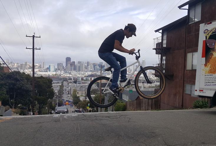 BMX rider doing a jump