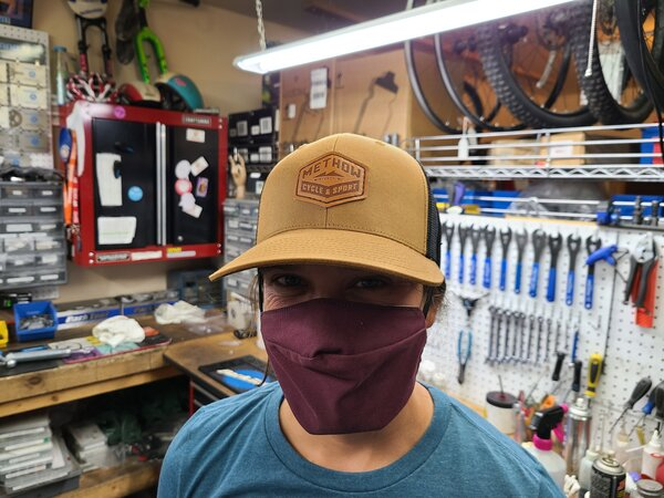 Methow Cycle & Sport Logo Hat - Caramel/Black Leather Patch