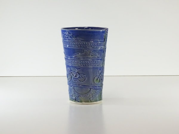 Methow Cycle & Sport Ceramic Tumbler by Marcia Ives