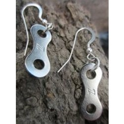 Biker Chick Wire Link Earrings