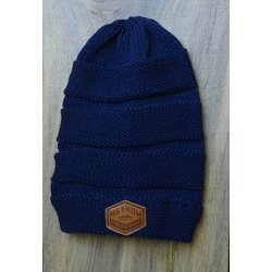 Methow Cycle & Sport Scrunch Beanie - Leather Patch