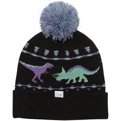 Coal Headwear The Dina Dinosaur Graphic Pom Beanie