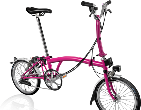 Brompton M6L Hot Pink w/SP Dynamo