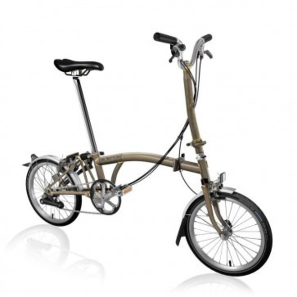 Brompton H6L Raw Lacquer w/Wide Saddle