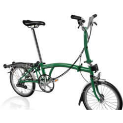 Brompton M6R Racing Green w/Marathon Tires