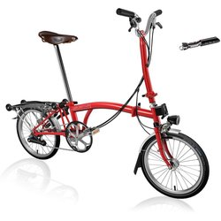 Brompton H6R Red w/SP Dynamo, Brooks Men's Saddle & Tool Kit