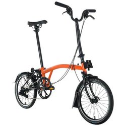Brompton M6L Black Edition - Orange