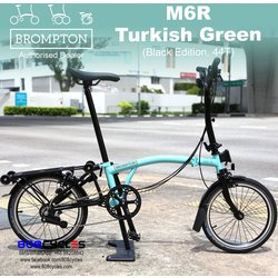 Brompton M6L Black Edition - Turkish Green
