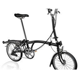 Brompton H6R Black w/ Wide Saddle