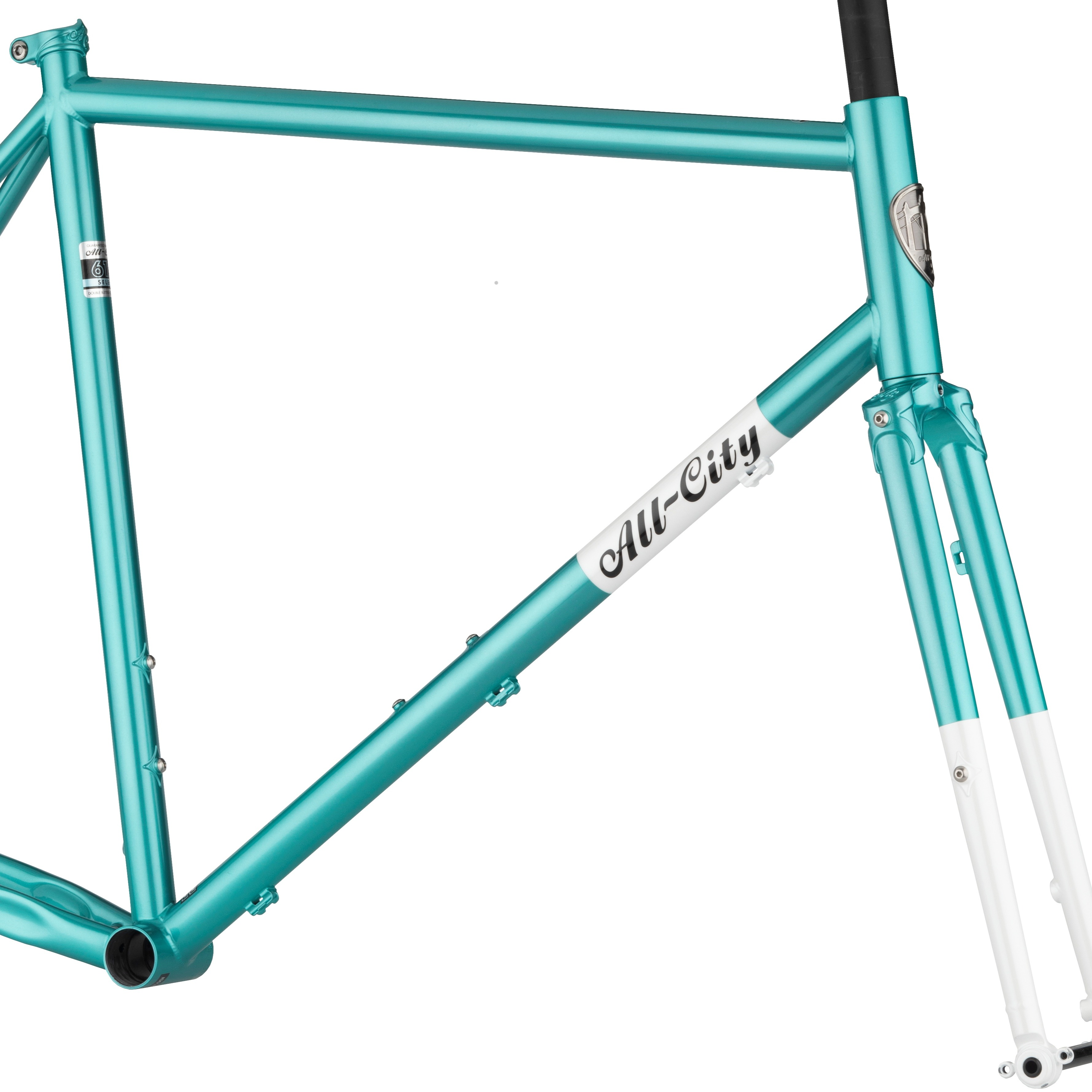 All-City Super Professional Frameset in Blue Panther