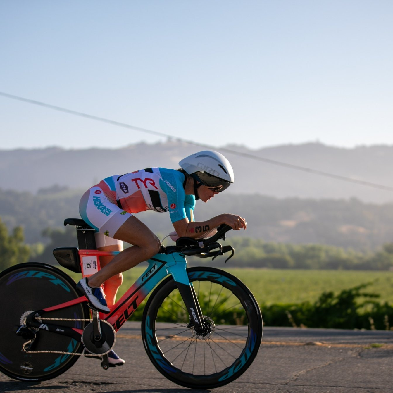 Rinny Carfrae reached second place at IRONMAN Santa Rosa