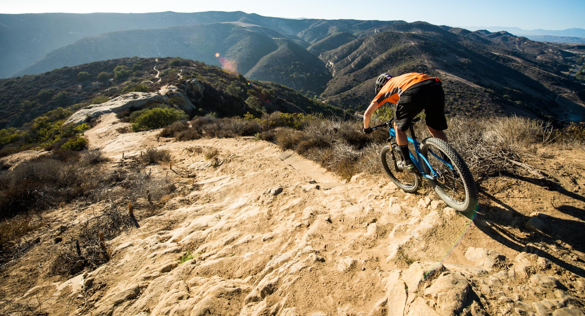 The Jamis Dragonslayer's plus-size tires smooth rocky trails