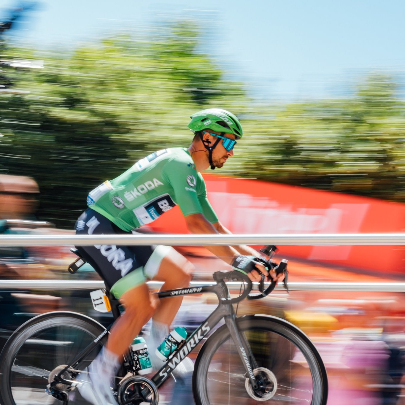 Peter Sagan in Green Jersey at Tour de France