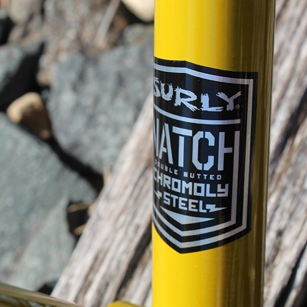 Surly's Natch steel is custom-made, double-butted chromoly