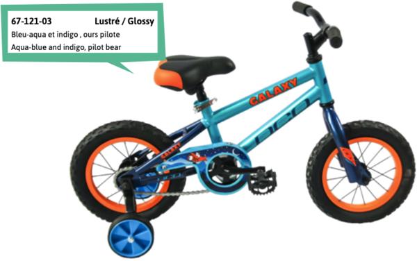 "DCO Galaxy Boy's 12"" Bike - PRE-ORDER"