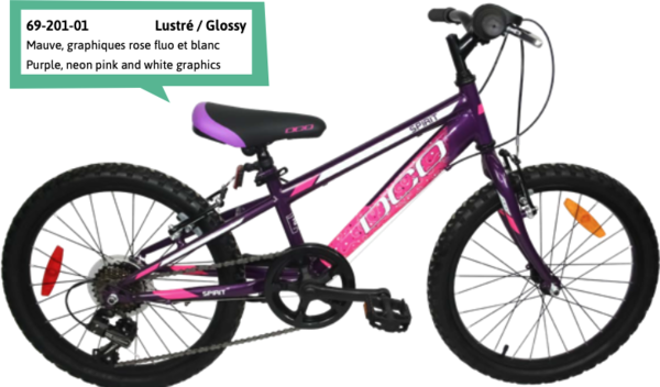 """DCO Spirit 20"""" Girl's 7-Speed Bike - PRE-ORDER"""