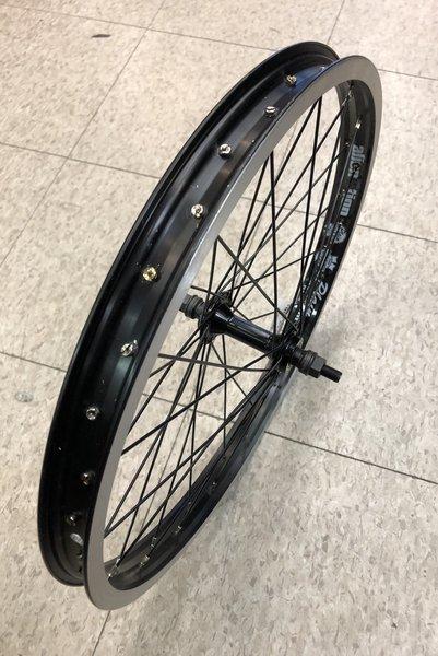"Alienation 20"" Plain Black Rim BMX Single-Wall Wheel"