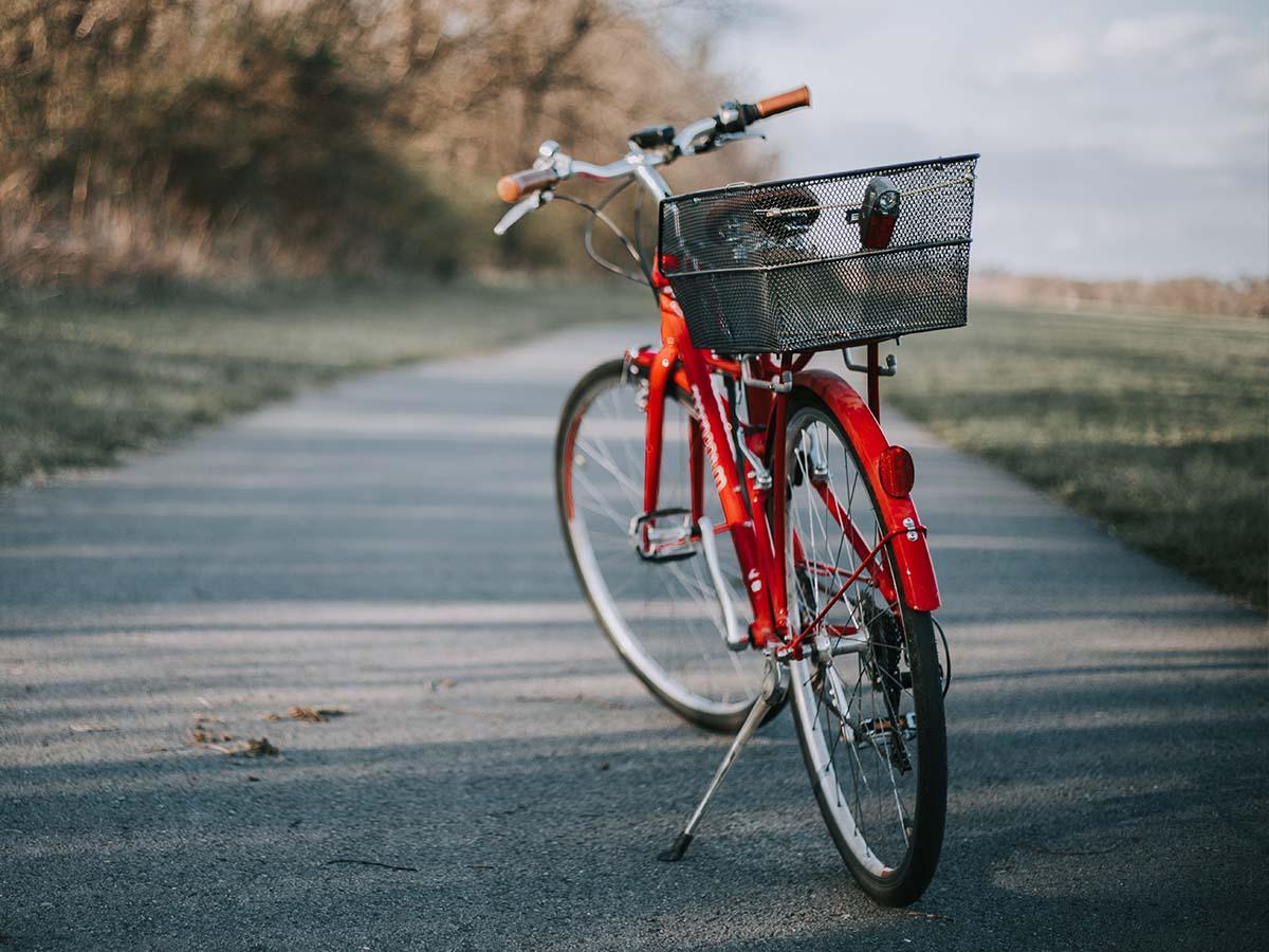 bike with kickstand