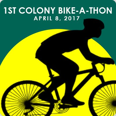 1st colony bike-a-thon logo