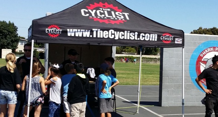 Kids Learning to ride their bikes safely
