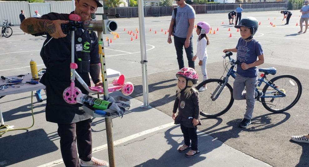 kid's bike safety check