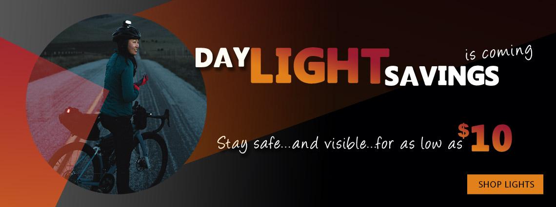 Bike lights for Daylight Savings time