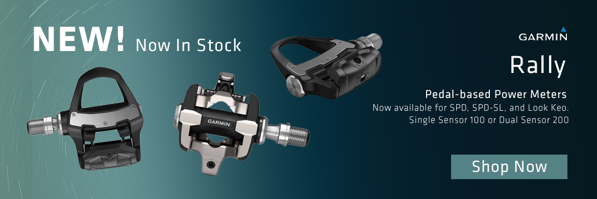 Garmin Rally Pedals now in stock at Naples Cyclery