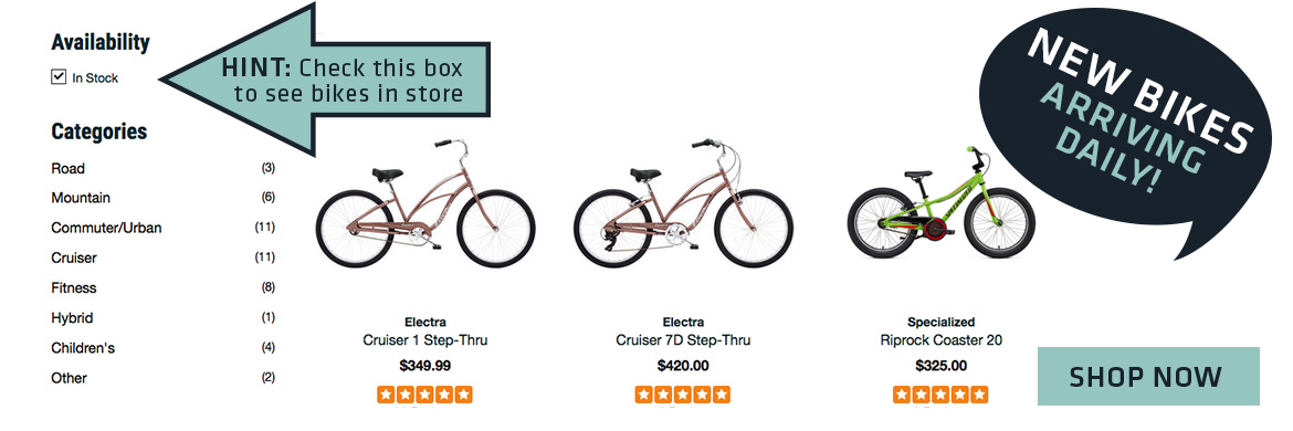 New bikes arriving at Naples Cyclery Daily!