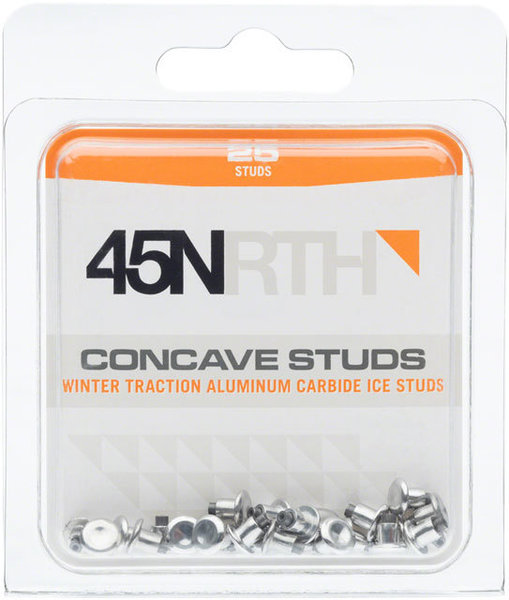 45NRTH 45NRTH Concave Carbide Aluminum Studs: Pack of 25