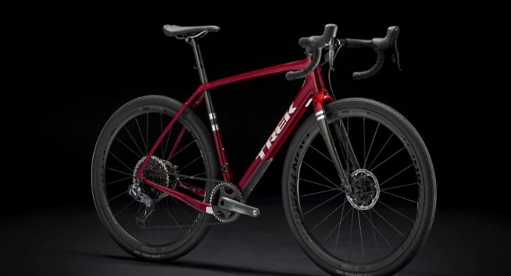 Studio photo of a Trek gravel bike