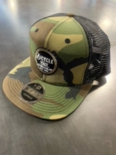 Bicycle Face Bicycle Face Camo Trucker Cap/Hat